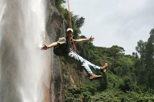 Abseiling at Sipi Falls