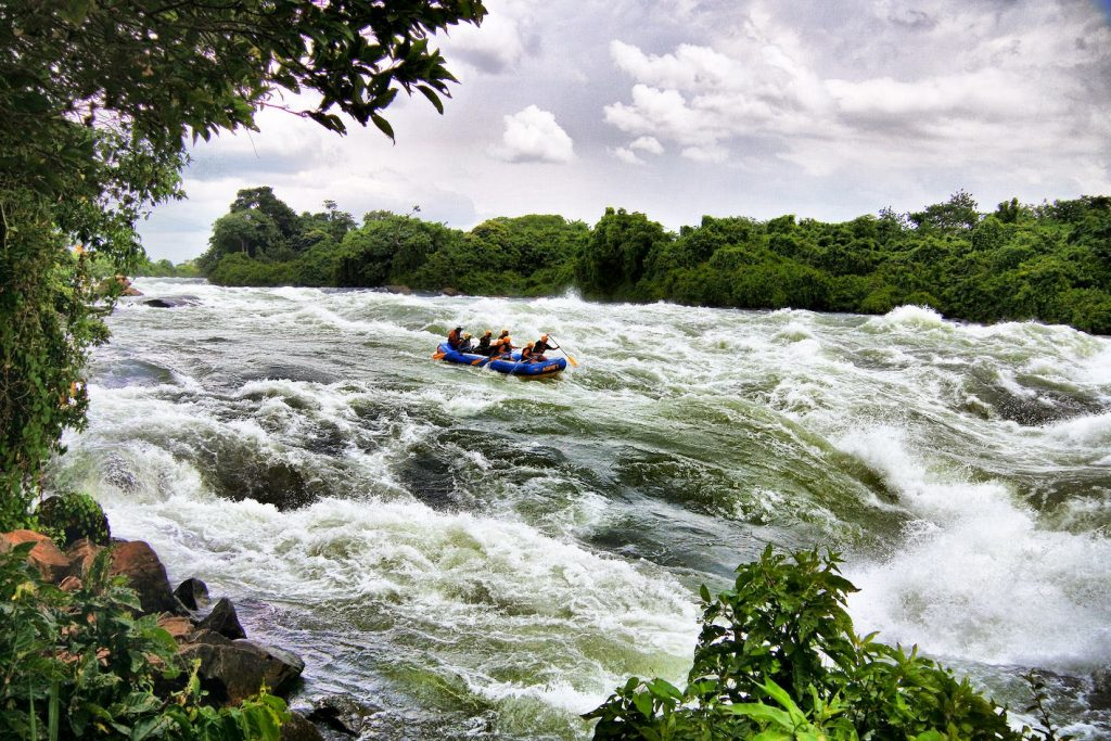 Water Rafting at the source of the Nile